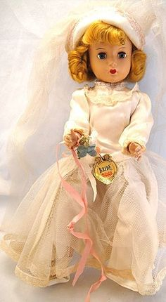 Bride Doll Hard Plastic 1948-49 MINTY 14in - Made by Reliable Co., competitor of Vogue and Madame Alexander
