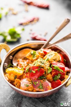 Paneer and bell peppers are cooked in a spicy masala! Kadai Paneer is one of the most popular Indian paneer recipes and is best enjoyed with naan or roti. Find the recipe on www.cookwithmanali.com