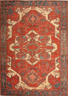 Antique Heriz Persian rug from Nazmiyal