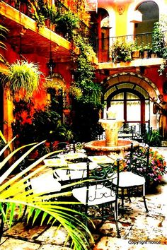 A two-story courtyard - San Miguel de Allende - Mexico