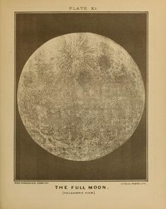 The Full Moon, Electro Astronomical Atlas, by J. W. Spoor, 1874