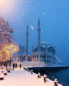 Istanbul: A fairytale city in winter! Istanbul City, Istanbul Travel, Beautiful Mosques, Beautiful Places, Turkey Travel, Dream City, Celebrity Travel, Hagia Sophia, Antalya
