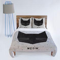 Wesley Bird Meow Duvet Cover