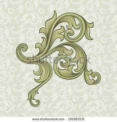 Vintage Background, Floral Ornament Frame, Elegance Style, Luxury Design Raster Version Imagen de archivo (stock) 136887731 : Shutterstock