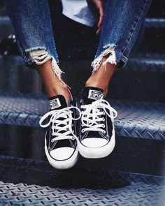d3a118d87aa5 Converse All Star Chuck Taylor Ox Womens Trainers Shoes in Black White -  Converse All Star Ox Trainers The original basketball shoe
