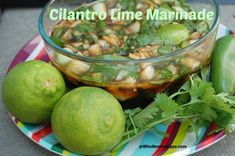 Cilantro Lime Marinade will add a bunch of flavor to whatever meat you decide to add it to! It packs a punch and is a great addition! Steak Fajita Marinade, Cilantro Lime Marinade, Balsamic Marinade, Marinade Sauce, Soy Sauce, Veggie Recipes, Mexican Food Recipes, Real Food Recipes, Chicken Recipes