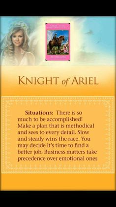 "ARCHANGEL POWER ORACLE. MARCH 19 2015 KNIGHT OF ARIEL (2 of 4) Looking for some kind of job that makes your soul sing... you can really can't call it a job if you love doing what you do. Today might just be that kind of day! All it takes is being at the right place at the right time... and having the ""Source"" on your side. And of course your Guardian Angel's. Call upon their help today, they would be more than willing to help. But remember, your ""Angels"" can take a human form... be on the…"