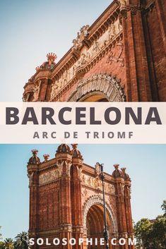 Barcelona's Arc de Triomf, a 19th-Century Arch in the heart of Barcelona Catalonia Spain