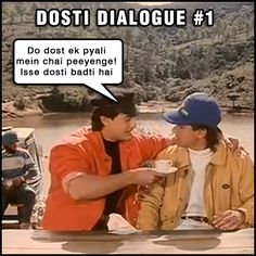 Kai Po Che is all about friendship. But sometimes friends can get very competitive. Remember these two guys from that cult classic? This is a first from a series we will bring you of unforgettable dosti dialogues from unforgettable Bollywood movies! Stay tuned for more
