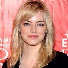 Emma Stone with layered midi haircut