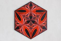 SIEBEN heilige Formen string Mandala Zen 3D Kunst hohe Kunst