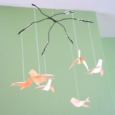 Make this bird mobile with a tutorial and printable template from Martha Stewart.