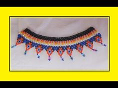 A beaded necklace. Collar Verde, Native American Beading, Youtube, Videos, Beaded Jewelry, Free Pattern, Projects To Try, Jewelry Accessories, Bridal