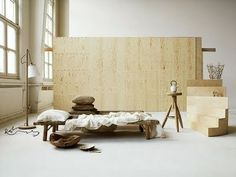 plywood wall