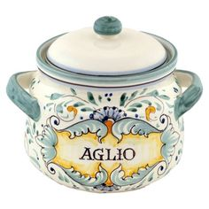 Love the colors in this Tuscan Garlic Keeper from the Abbiamo Tutto event at Joss and Main!