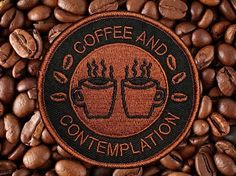 Repost @night.thrive THIS ONES FOR YOU COFFEE SIPPIN FIENS! THE COFEE AND CONTEMPLATION PATCH! Available now in the shop! (Posted by https://bbllowwnn.com/) Tap the photo for purchase info. Follow @bbllowwnn on Instagram for the best pins & patches!