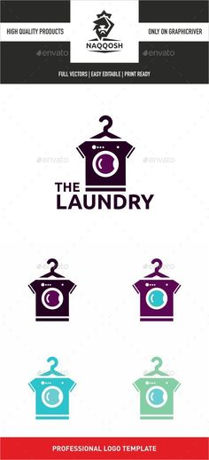 The Laundry Logo Template Vector EPS, AI. Download here: http://graphicriver.net/item/the-laundry/13564027?ref=ksioks