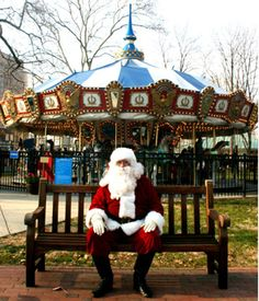 Visit Santa in Philadelphia's Franklin Square.