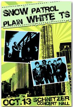 Snow Patrol with Plain White Ts Concert Tour Poster $9.84 #SnowPatrol