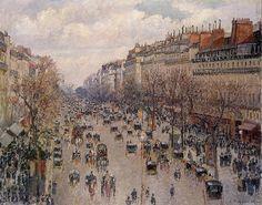 Camille Pissarro - Boulevard Monmartre in Paris [1897]