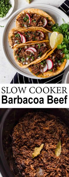 Barbacoa Beef – Perfectly tender and amazingly flavorful! This beef is delicious… Barbacoa Beef – Perfectly tender and amazingly flavorful! This beef is delicious in tacos, burritos, quesadillas, enchiladas and more! Crockpot Recipes, Cooking Recipes, Healthy Recipes, Slow Cook Beef Recipes, Taco Bar Recipes, Soup Recipes, Cooking Beef, Cooking Kale, Beef Meals