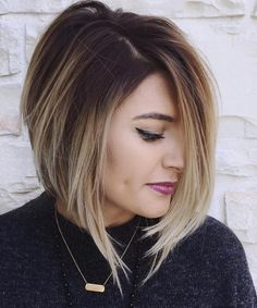 Angled Balayage Bob w/ Red though                                                                                                                                                                                 More
