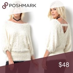 🆕STASSIE uber soft shaggy sweater top - CREAM SUPER SOFT FURRY SWEATER   65% Polyester 35% Acrylic   🚨NO TRADE, PRICE FIRM🚨 Bellanblue Tops Blouses