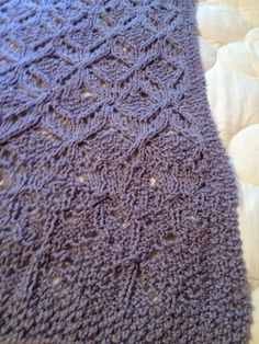 Afghan made for new baby.