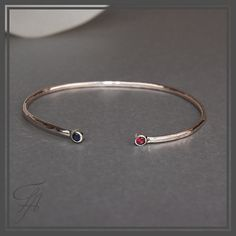 Cuff Oval Bracelet in Pink 14K Golf filled Red by FutureArtJewelry, $55.00