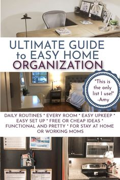 Home Organization: The Complete Guide. - The Busy Budgeter Home Organization Hacks, Organizing Your Home, Organising Hacks, Organizing Tips, Closet Office, Home Management, Home Hacks, Working Moms, Getting Things Done