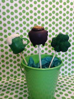 Luck o' the Irish.  Cake Pops
