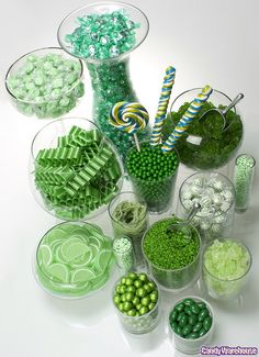 Green candy buffet...St Patrick's Day or The Grinch party