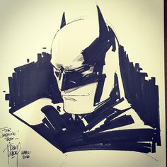 Batman sketch by Adam Kubert #batman