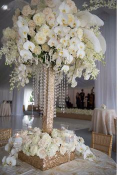 Orchids Gold Base Flower Centerpieceswedding