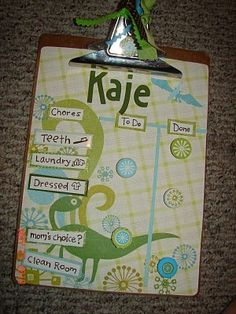 Looking for cute chore chart ideas and found this.