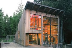 Made up of castaway materials from several other projects, the Breuer Cabin by Lundberg Design is nothing short of a masterpiece in forest-getaway living. The windows were sourced from various remodel jobs, while the exterior is clad in reclaimed redwood....
