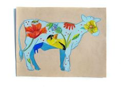 Cow Art Cow Illustration Charity Donation by LatreiaDesigns