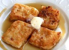 Fried Mush  3 c water   1 tsp salt   1 c yellow cornmeal   2 Tbsp butter