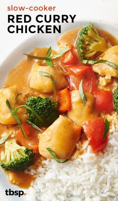 ... Thai dish at home in your slow cooker. Red curry paste and coconut