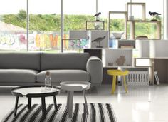 Around is a minimalist coffee table and side table collection by Denmark-based designer Thomas Bentzen. Designed for MUUTO, the tables are inspired by 50's and 60's Scandinavian craft. The collection comes in ash, oak, black, grey, red, and yellow. Bentzen also states that he prefers to have an edge on his coffee and side tables. The lip around the perimeter of the designs serve as both a functional and aesthetic purpose. (6)