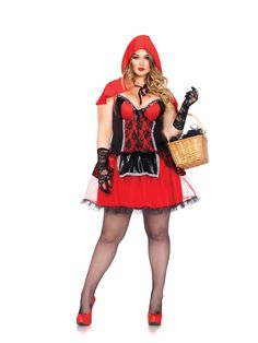 Curvy Shaper Red Riding Hood Adult Womens Plus Size Costume - 346964
