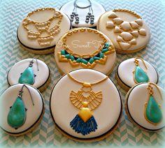 Jewelry sugar cookies inspired by Stella & Dot. #StellaDotStyle #JewelryCookies #OneSweetTreat
