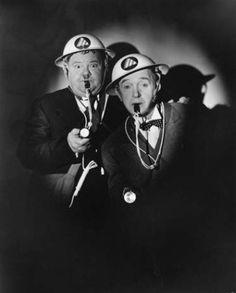 "Laurel and Hardy in ""Air Raid Wardens"" Talking Film 1943"