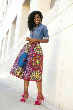 Falda mucho Color amplia