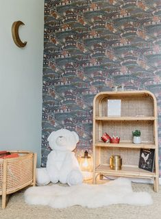Bibliothèque en cannage et rotin naturel, Jack - Saudara Collections Turbulence Deco, Style Deco, Kids Rugs, Home Decor, Collections, Wooden Sofa, Wooden Wardrobe, Decoration Home, Kid Friendly Rugs