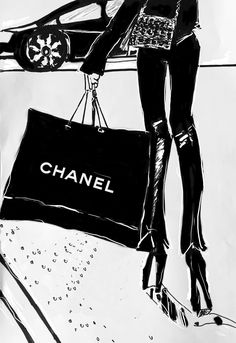 """The Chanel bag"" designed by Lisa Carboni www.lisacarboni.it #chanel #fashion"