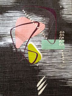 George Jetson Abstract Boomerang Barkcloth// Eames by KimberlyZ, $99.00