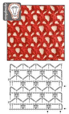 Destul de croșetat Stitch: diagramă