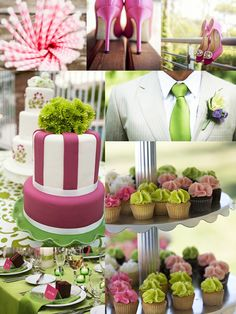 striped wedding theme | Wedding Theme: Pink and Green - Ghana Bridal Blog