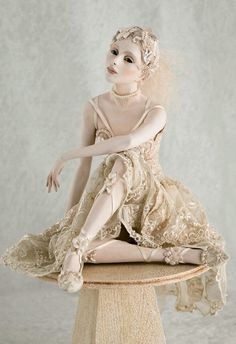 """""""Just Waiting""""   Doll sculpted by Hannie Sarris...my fave doll sculptor!"""